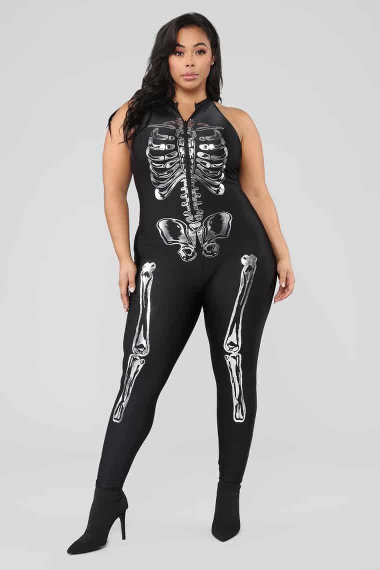 Sexy Fashionnova Halloween Costumes For Plus Size Women to Love. Sexy Skeleton Costume - Black