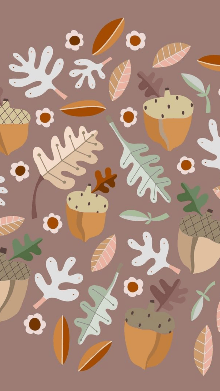 Fall Flowers and Acorns Wallpaper.You can always make your iPhone look aesthetic with cute wallpapers, these 40 beautiful and aesthetic autumn fall wallpapers for your iPhone will make you feel that autumnal fall vibes.