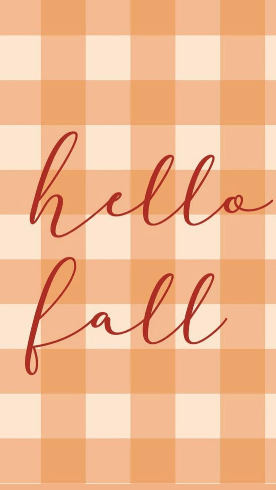 Orange Hello Fall Wallpaper