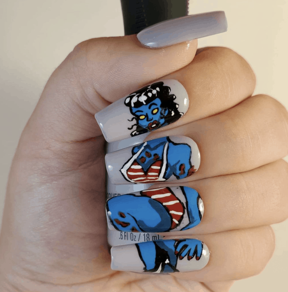 30+ Halloween Nails Designs That Are Cute And Spooky To Copy From